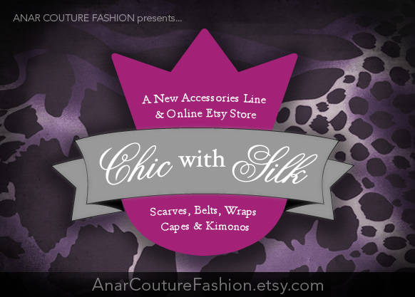 Anar Couture Fashion Etsy Store Flyer